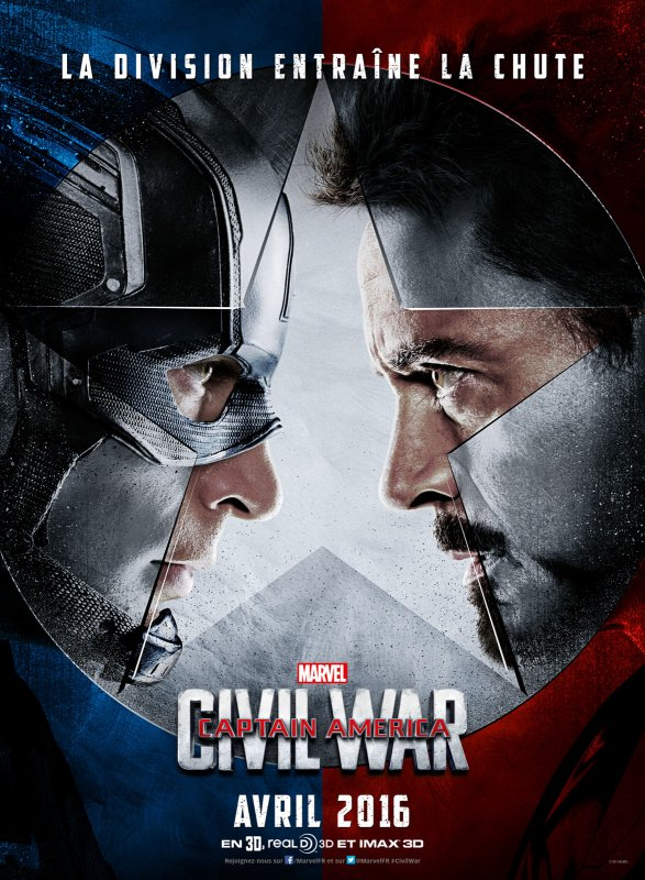 FILM CAPTAIN AMERICA : CIVIL WAR ANNEE 2016 REALISATEUR ANTHONY ET JOE RUSSO DUREE...