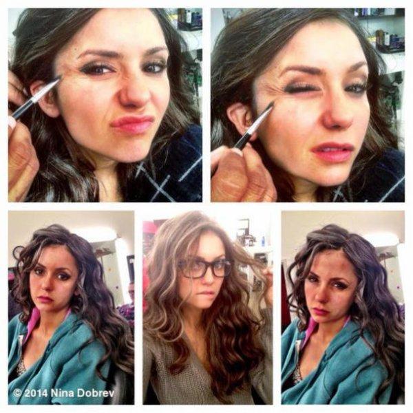 Nina Dobrev et son maquillage dans Vampire Diaries