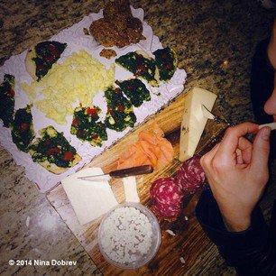 The Vampire Diaries Saison 5 : Nina Dobrev et son petit-déjeuner des champions