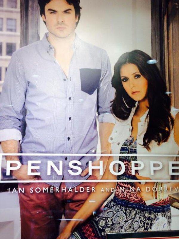 Nina Dobrev avec Ian Somerhalder pour Penshoppe, la nouvelle photo