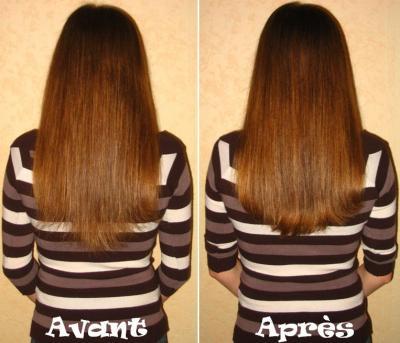 Couper pointes cheveux mi long