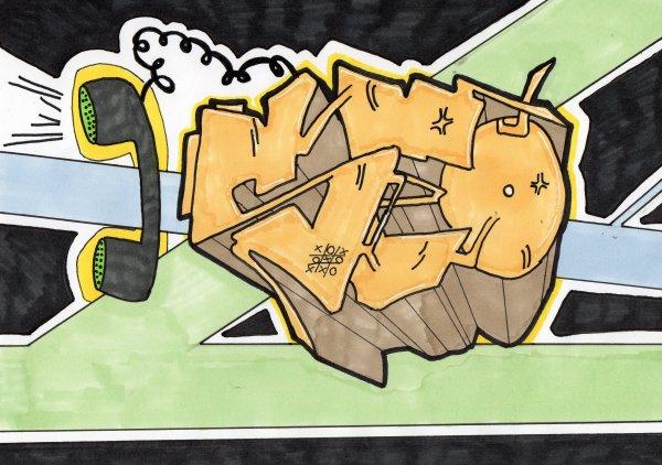 SEO // Graffiti sur papier