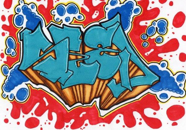 SEED // Graffiti sur papier
