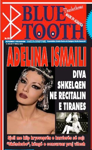"""Gazeta Shqiptare """"DIVA SHKËLQEN NË RECITALIN E TIRANËS"""" (Suplementi Bluetooth)"""