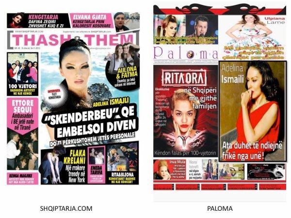 100 vjetorit të Pavarësisë së Shqipërisë, ju sjellim dy kopertinat që Shqipëria i dhuroi Divës sonë në këtë datë të shenjtë .  ♥ Të duam Shqipëri... ♥