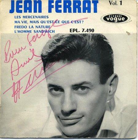 1958)  Jean FERRAT  -  Frédo la nature (Pochette dédicacée)