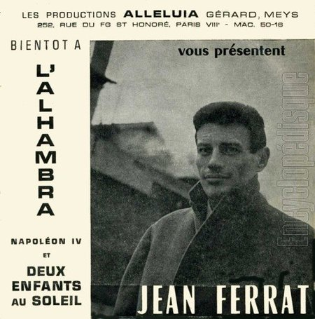 1961) Jean FERRAT  - Deux enfants au soleil et Napoléon IV ( 45 T )