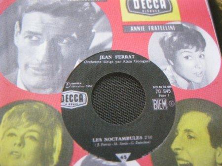 1962)  Jean FERRAT  - Les noctambules  45T chez DECCA