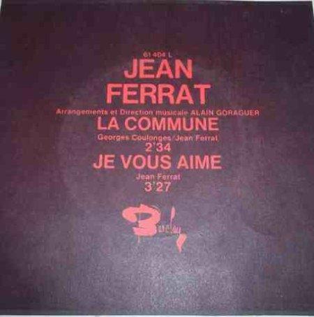 1970 - La commune ( 45T version 2 titres )