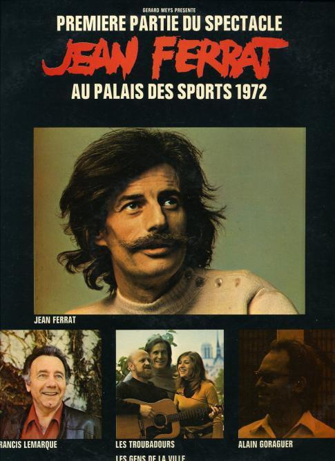 Affiche du spectacle pour le Palais des Sports de Paris (Octobre 1972)