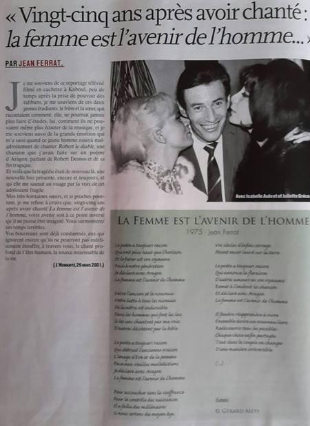 """2000)   """" 25 ans après avoir chanté : la femme est l'avenir de l'homme """""""