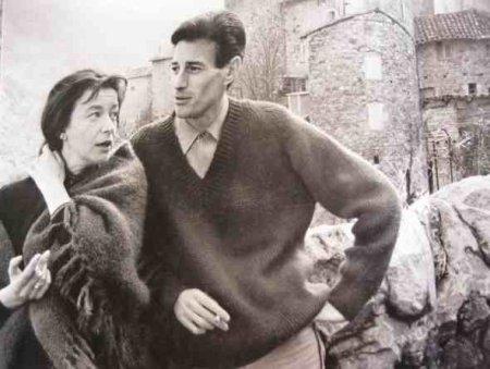 Jean FERRAT et Christine SÈVRES (sa première épouse) à Antraigues-sur-Volane 1965)