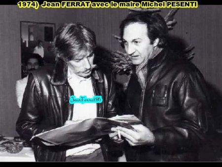 1974) Jean FERRAT et Le maire d'Antraigues Michel PESENTI