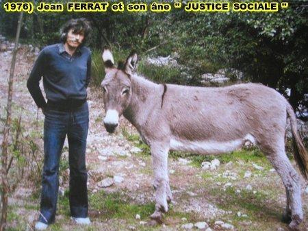 "1976) Jean FERRAT et âne "" Justice Sociale """