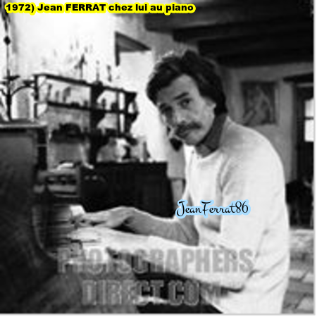1972) Jean FERRAT au piano chez lui