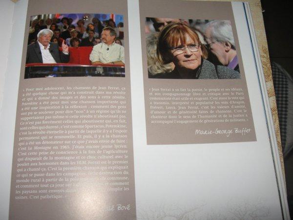 Hommage de Marie-Georges BUFFET et José BOVE pour Jean FERRAT (2010)