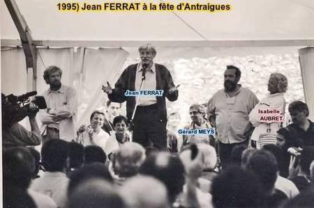 1995) Jean Ferrat à la fête d'Antraigues-sur-Volane (07530)