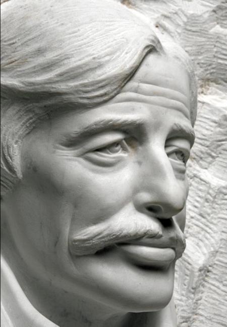 2016) Exposition de plusieurs sculptures sur Jean FERRAT au musée de Maria FAYKOD (83630)  AUPS