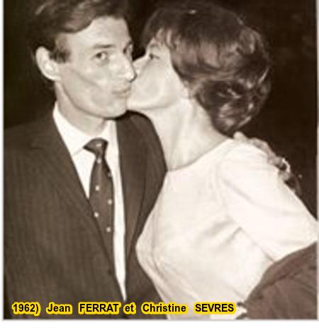 1962)  Jean  FERRAT  et  Christine  SEVRES