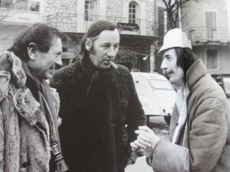 """1974 - Jean FERRAT sur le tournage du film """" Le Secret """""""