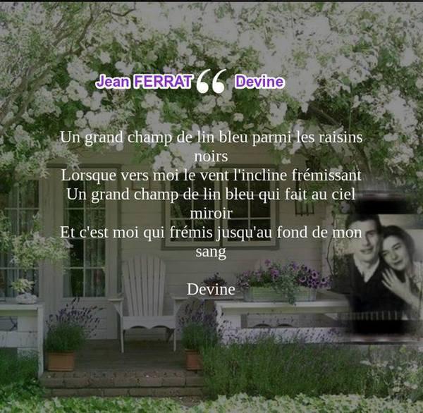 Jean Ferrat - Devine (d'après un poème de Louis ARAGON)