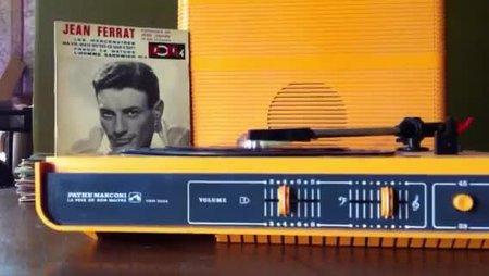 1958)  Jean FERRAT - Les mercenaires (la pochette)