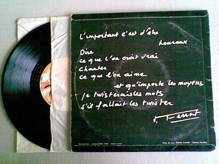 1963) Jean FERRAT- Nuit et Brouillard ( Pochette de 33T dédicacé )