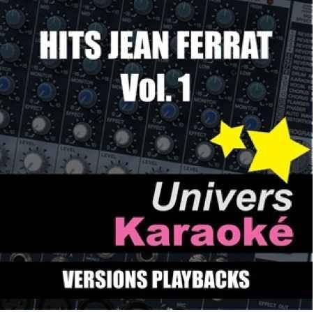 """Pochette Karaoké """" HITS Jean FERRAT Vol 1"""