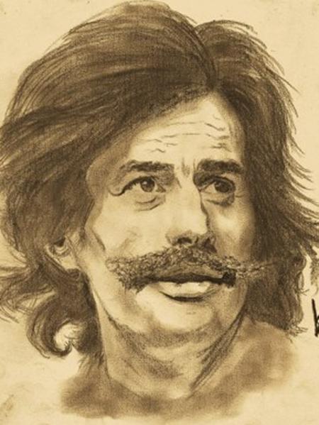 Caricatures de Jean FERRAT (Trouver sur le net)