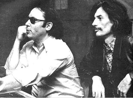 1972) Jean FERRAT et Alain GORAGUER son chef d'orchestre en studio d'enregistrement