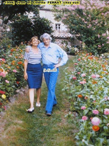 1998 colette et jean ferrat chez eux antraigues sur for Antraigues sur volane maison de jean ferrat