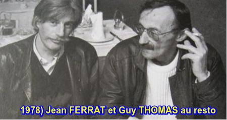 1978) Jean FERRAT et Guy THOMAS au restaurant