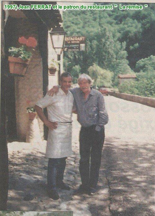 """1997)  Jean FERRAT et le patron du restaurant  """" La remise """""""