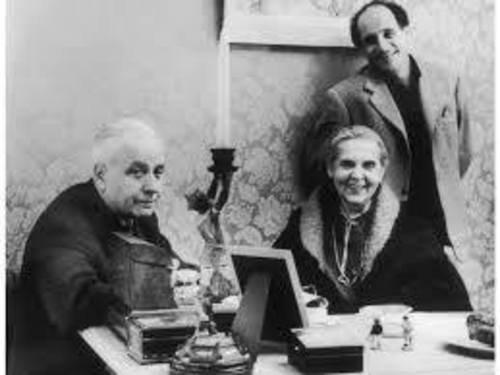 1971)  Louis ARAGON, Elsa TRIOLET et Léo FERRE