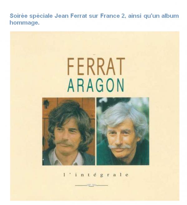 2015)  Soirée spéciale Jean FERRAT sur FRANCE2 ( Mars 2015)