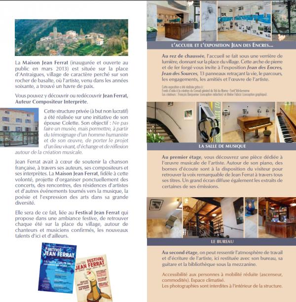 2013) La maison Jean FERRAT à Antraigues-sur-Volane (07530)