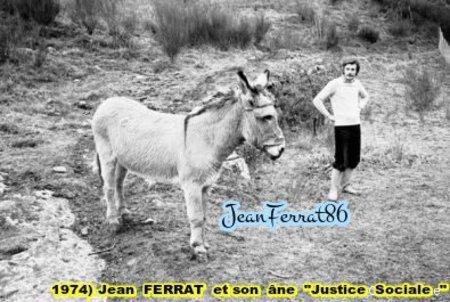 """1974)  L'âne de Jean FERRAT qu'il avait nommer  """" JUSTICE SOCIALE """""""
