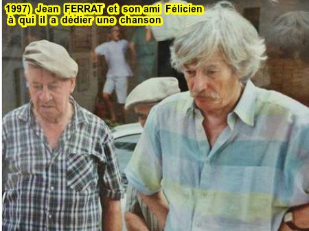 1997)  Jean FERRAT et son ami Félicien jouant aux boules (il lui dédiera une chanson en 1969)