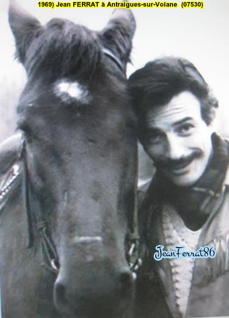 1969) Jean FERRAT à Antraigues-sur-Volane (07530)