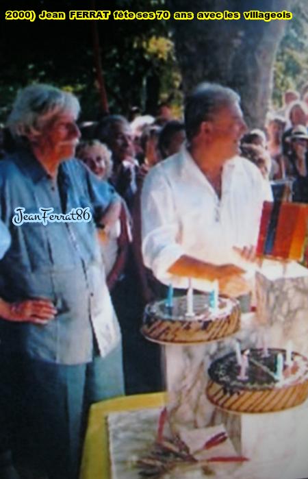 2000) Jean FERRAT fête ses 70 ans avec les gens du village d'Antraigues-sur-Volane (07530)