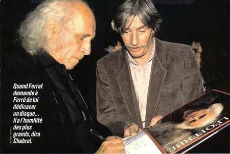 1991)  Jean FERRAT demande une dédicace à Léo FERRE