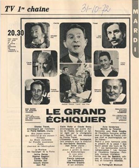 1972) Jean FERRAT au Grand Echiquier le 31 Octobre