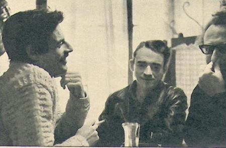 1968) Article de presse - Jean FERRAT avec Jean SAUSSAC (artiste peintre-sculpteur)
