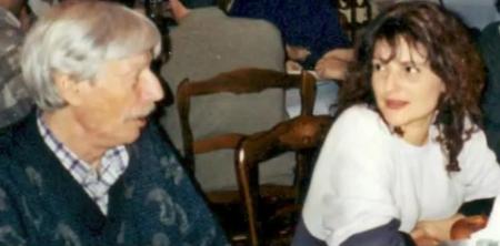 2000) Jean FERRAT et sa fille adoptive Véronique ESTEL