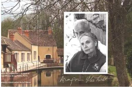 Propriété et photo de Louis ARAGON et Elsa TRIOLET