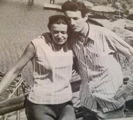 1963) Jean FERRAT et Christine SEVRES (sa 1ère épouse)