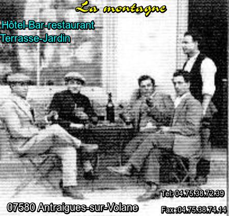"""1969) Article de presse sur le restaurant   """" La Montagne  """""""