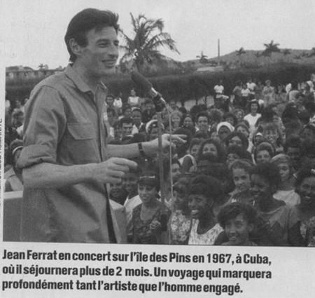 1967)  Jean FERRAT à Cuba
