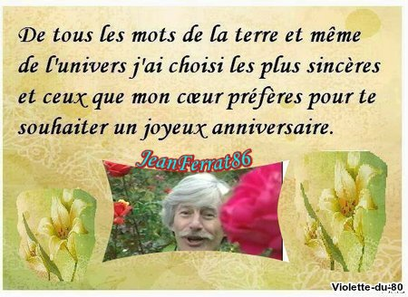Cadeaux d'Anniversaire de mes ami(es) Violette-du-80 - Chiara643 - Christineditcricri62100 - Thierry-Sylviane2810 -