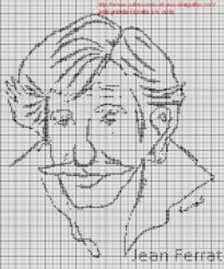 Caricature de Jean FERRAT (trouver sur le net)